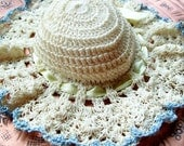 Vintage Crochet, Pincushion, Crochet Hat, Early 20th Century, Stick Pins