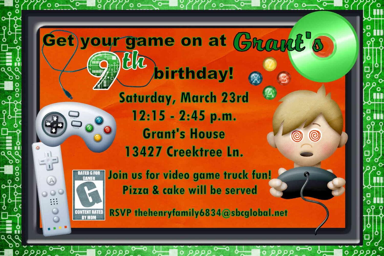 Digital Game On Mobile Video Game Birthday Party Invitation – Video Game Party Invitation