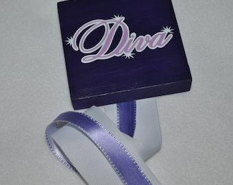Purple Diva Custom Hair Bow Holder