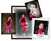 Cosplay Barbie party Trendy Little Ones Satin Collar Bolero Shrug & Burlesque skirt Hot pink Child Girl