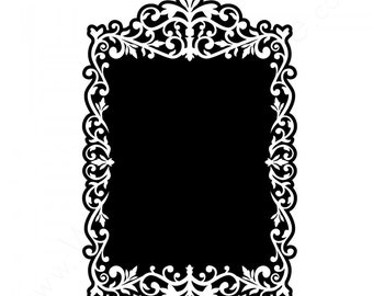 Antique Chalkboard Frame Wall Decal