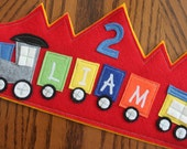 Red Train Birthday Crown