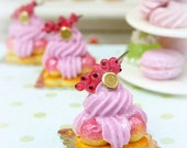 Red Currant St Honoré - French Pastry - 12th Scale Miniature Food