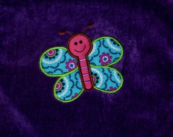 Embroidered Iron On Applique- Butterfly