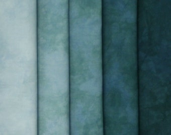 Hand Dyed Fabric Shades - Mystic Jade