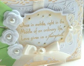 Fairytale Wedding - One Of A Kind Hand Crafted Greeting Card