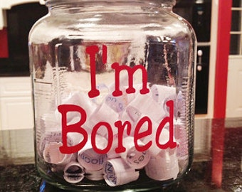 DIY - I'm Bored Jar - Vinyl Decal (K-070)