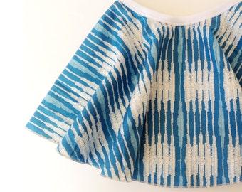 Native Stripes in Blue  - LIMITED - Twirly Circle Skirt  - by bitty bambu