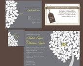 Digital Wedding Invitation Package, DIY Wedding invitations, Reply rsvp Card, Wedding Monogram, Printable wedding invitation pdf files, W17