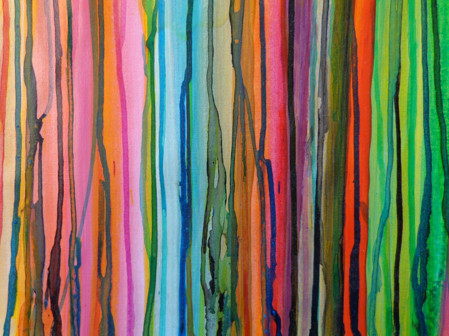 Original acrylic painting on canvas paper full for Acrylic painting on paper tips