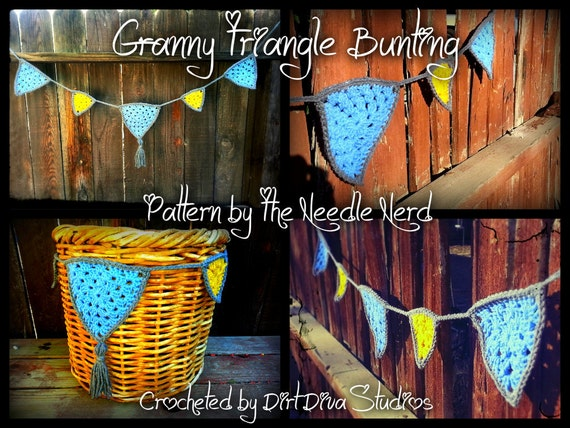 Basket Making Supplies North Carolina : Granny triangle love heart party bunting pdf crochet