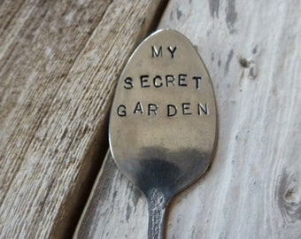 My Secret Garden  Vintage Spoon Garden Marker