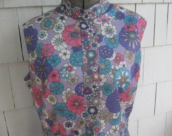 Vintage Dress Floral Emilio Borghese
