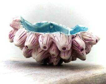 Decorative Sculpture ceramic bowl, sea treasures