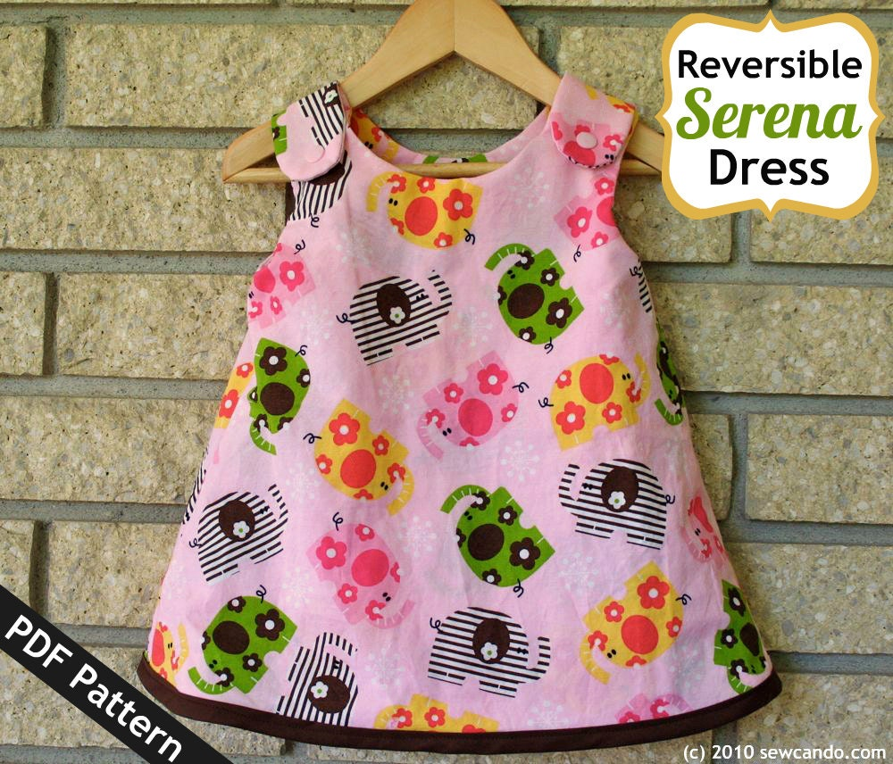 Sew can do reversible serena baby dress pdf pattern from this is a digital file jeuxipadfo Choice Image