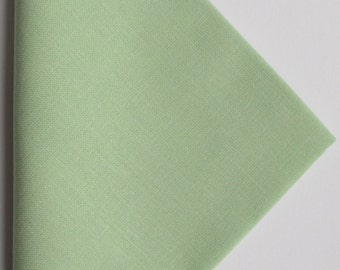 Bright green cotton fabric 11 inch or 28 cm square