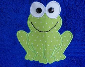 Blue Frog Towel