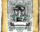 "Digital Graphic ""The Morrigan"" - BoS Page, Wiccan Pagan Druid Coloring Page"