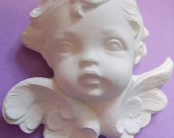 1987  Ceramic Bisque Cherub