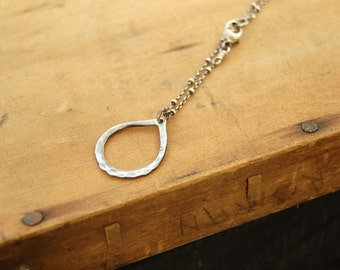 Steel drops - Hand forged steel necklace - Small