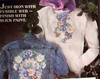 Vintage Fabric NO-SEW Applique by Daisy Kingdom, Pansies