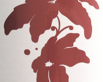 Lilies in Metallic Rose decal