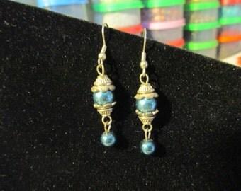 Earrings - Turq n Gold