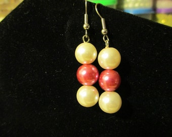 Earrings - Light and Hot Pink