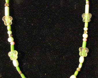 Necklace - Glow in the Dark Butterflies N0082