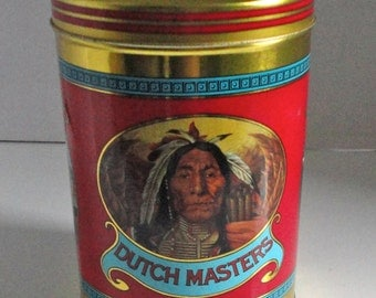 Dutch Masters Cigars  Tin can. 25 Panetelas. Cigar metal box