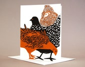 Three French Hens Cards (set of 6)