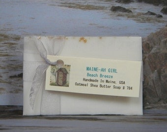 MAINE-AH GIRL Beach Scented Oatmeal Soap - Made In Maine Soap Bar for Maynah's
