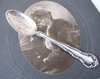 Antique Sterling Silver Souvenir Spoon, Sacramento California by Wallace Silver, Victorian Sterling Souvenir Spoon