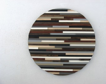 Rustic Wood Art - Sculpture - Round Art - Circles - Home And Living