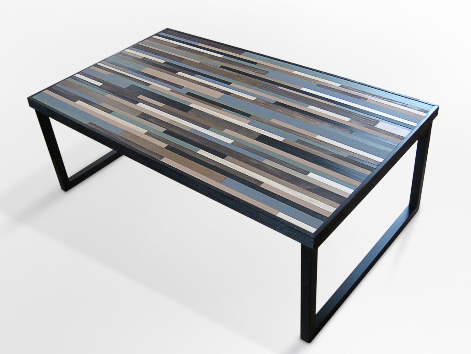 Reclaimed wood table modern industrial wood coffee table with Industrial metal coffee table