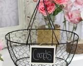 Rustic Wedding Programs Cards Basket Rustic Vintage Wedding Decor