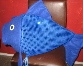 Blue Sequin fish costume-one size fits all