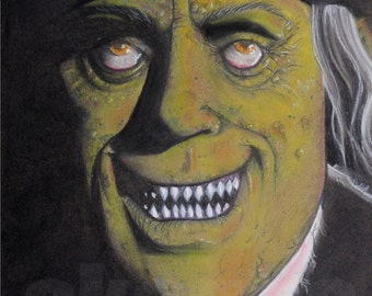 London After Midnight. Print of charcoal original Lon Chaney