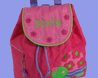 Personalized Child's Stephen Joseph Quilted Toddler TURTLE  Backpack-Monogrammiong Is Included