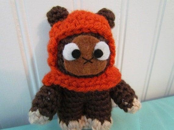 Ewok Crochet Amigurumi : Items similar to Made To Order - Ewok - Star Wars ...