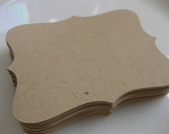 Bracket Card Tag Jar Label 3x2.25 Medium