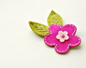 Magenta Blossom Hair Clip