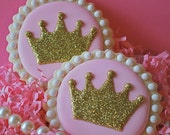 Princess Sparkly Crowns Decorated Sugar Cookies
