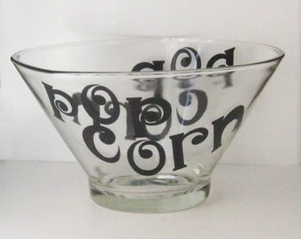 Retro Popcorn Bowl