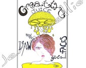 Creative Juice, Issue 2. Digital Zine - How to Draw Girls Faces by Jennibellie