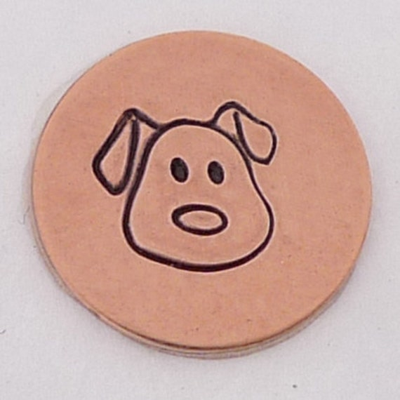 5mm Dog Face Metal Design Stamp Metal Jewelry Stamping Tool The