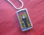 Saint Hildegard Medal - Patron of Healing - Herbalists - Musicians - Mystic - Doctor of the Church - Catholic Jewelry - FREE SHIPPING