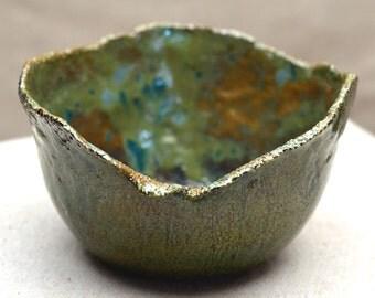 SALE. Ceramic Salad Bowl.  FORESTRY.  Nature Inspired Vessel. Zen Ceramics. Hand Built Ceramics. Ceramic Pottery. Mother's Day Gift.