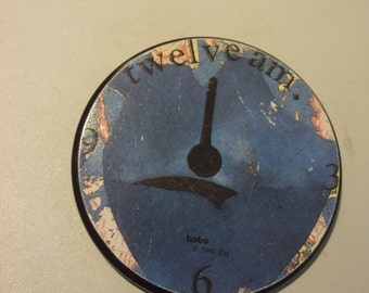 bobo button badge pin art avant garde 90s 1990 collage postmodern the cure new wave