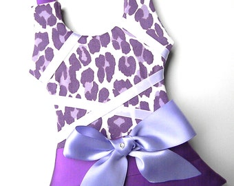 Hair Bow Holder - Bow Holder - Barrette Holder - Tutu Hair Bow Holder - Purple Cheetah Small  By Bubbles and Company